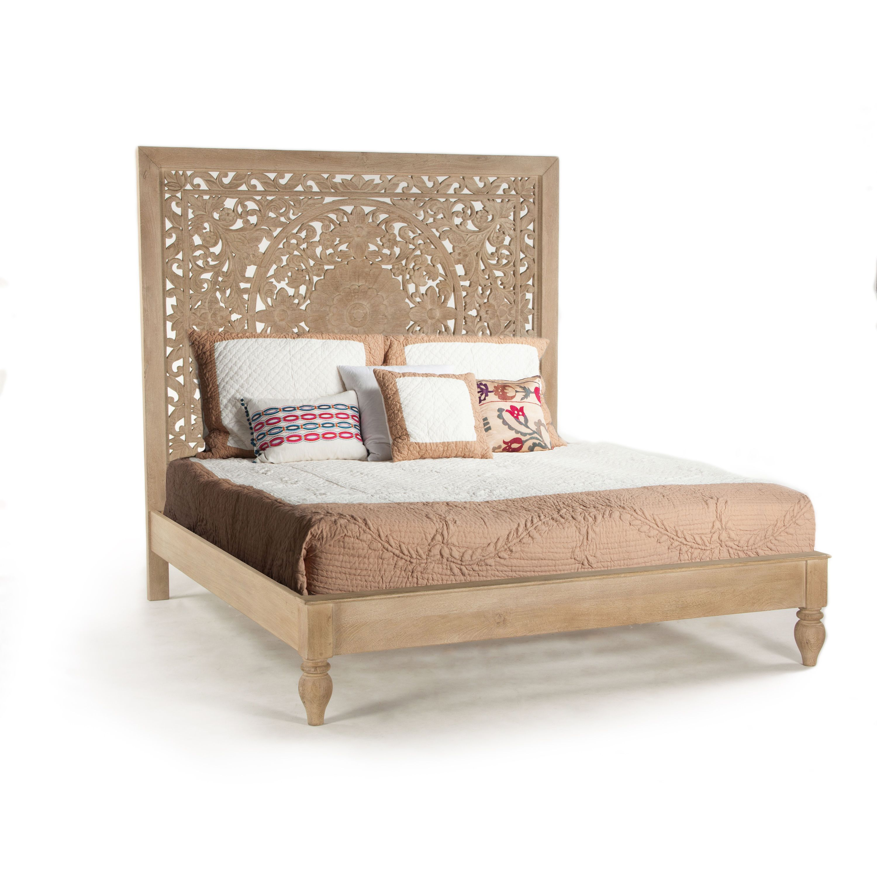 Best Haveli Solid Mango Wood King Bed Assembly Required 400 x 300
