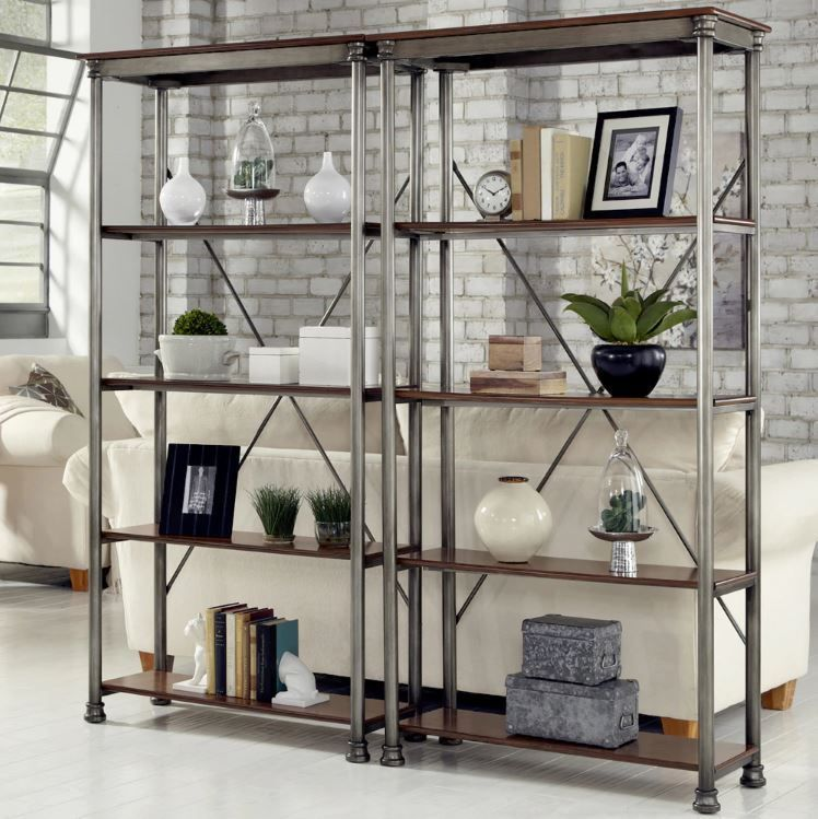 Home Styles The Orleans Multi Function 5 Shelf Unit   Gray   The French  Creole Cottage Inspired Home Styles The Orleans Multi Function 5 Shelf Unit    Gray ...