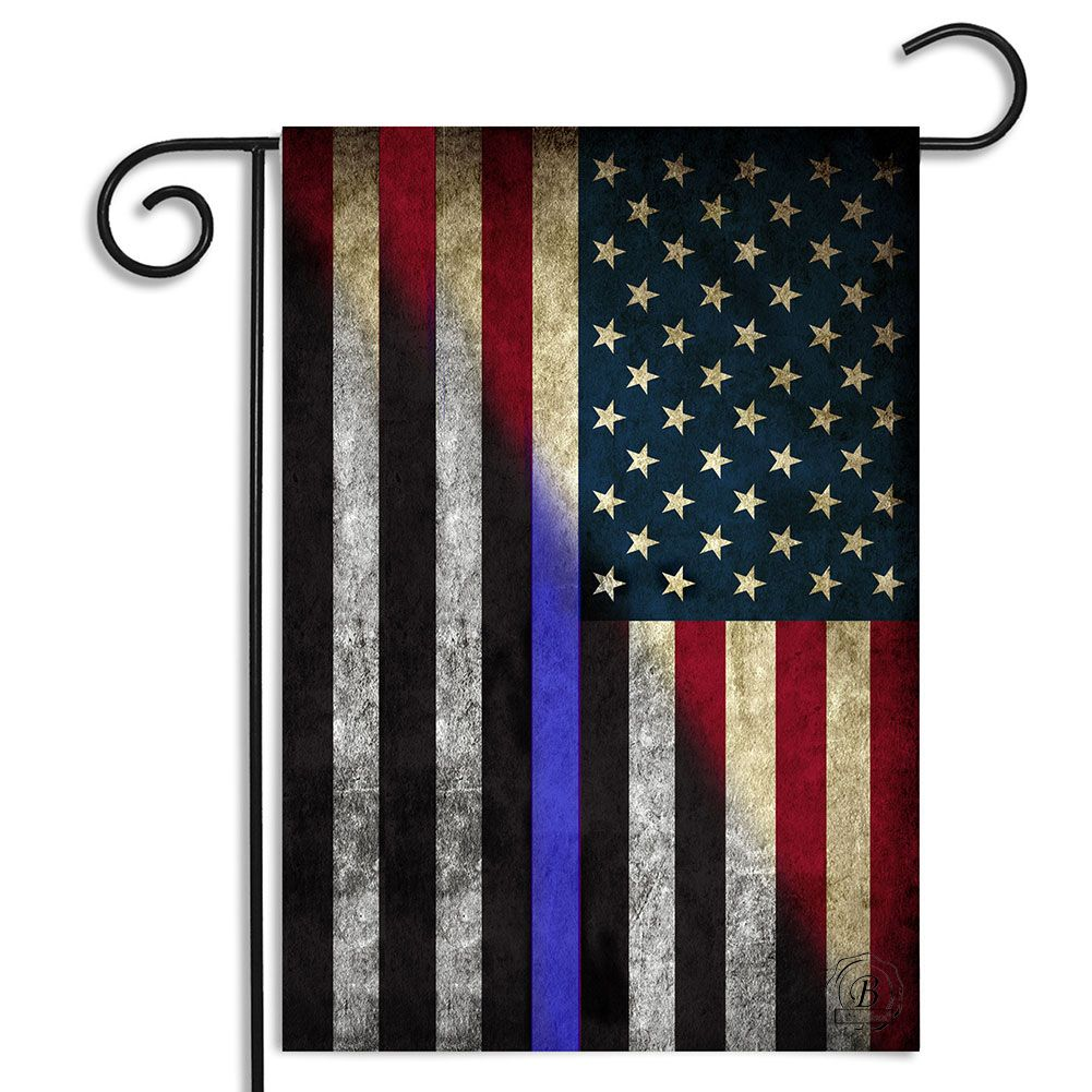 Red White Blue American Thin Blue Line Garden Flag American Flag Wallpaper Usa Wallpaper Flag