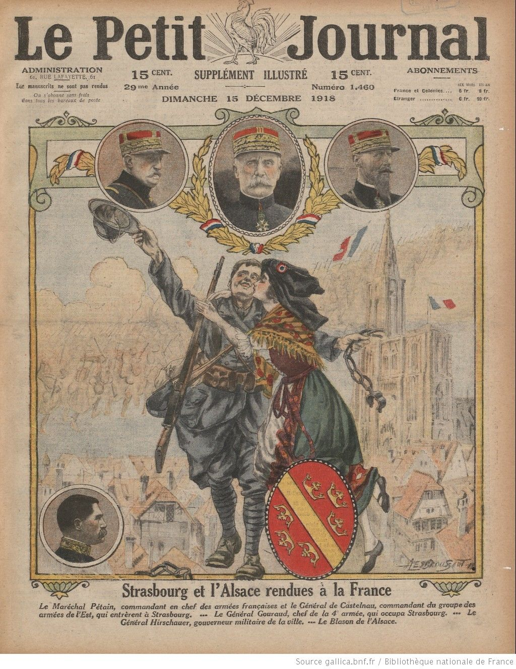 Le Petit Journal Supplement Du Dimanche 1918 12 15 Gallica Le Petit Journal Journal Bibliotheque Nationale De France