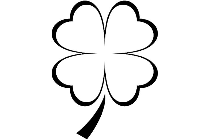 four leaf clover coloring pages three dimensional  clover