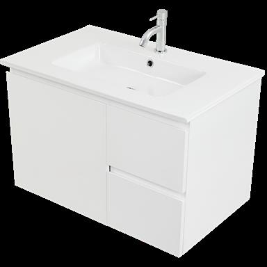 Cibo Design 750mm White Tonic Wall Hung Vanity Bunnings Warehouse In 2020 Wall Hung Vanity Vanity Bathroom Items