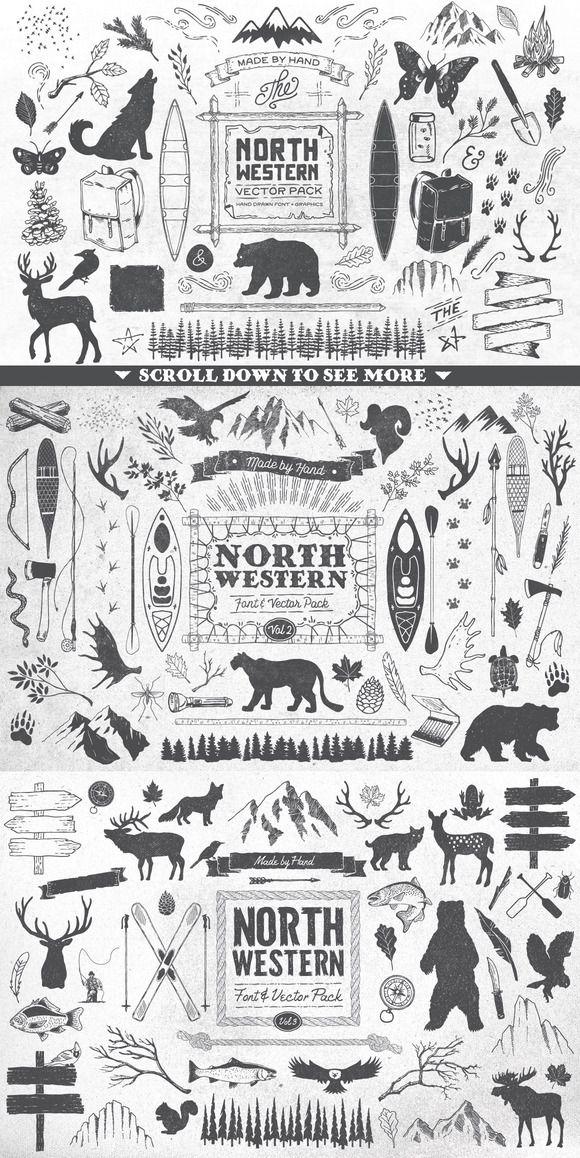 526117 Western font, Sketch book, Drawings