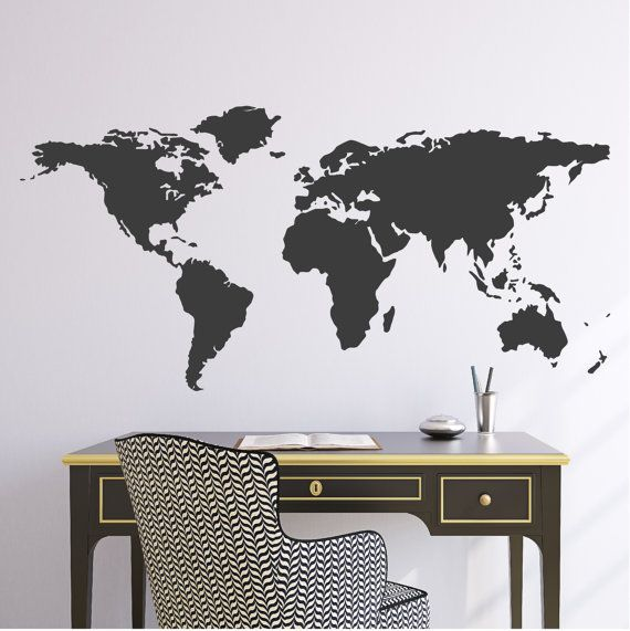 World map wall decal borders north america borders mapas wall decal 44w world map wall vinyl decal sticker gumiabroncs Image collections
