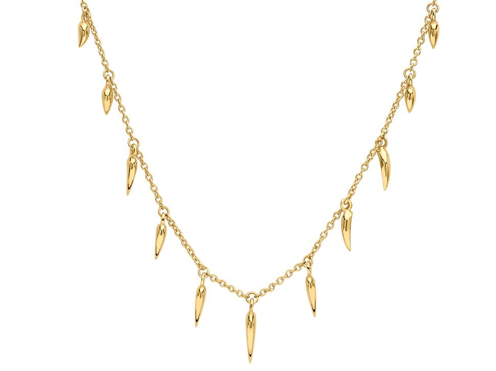 Missoma 18ct Gold Vermeil Graduated Fang Necklace