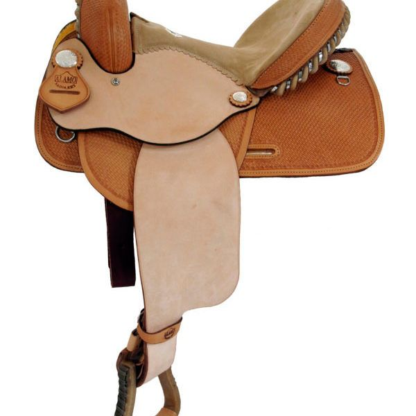Alamo Basket Tooled Barrel Saddle 1284 1