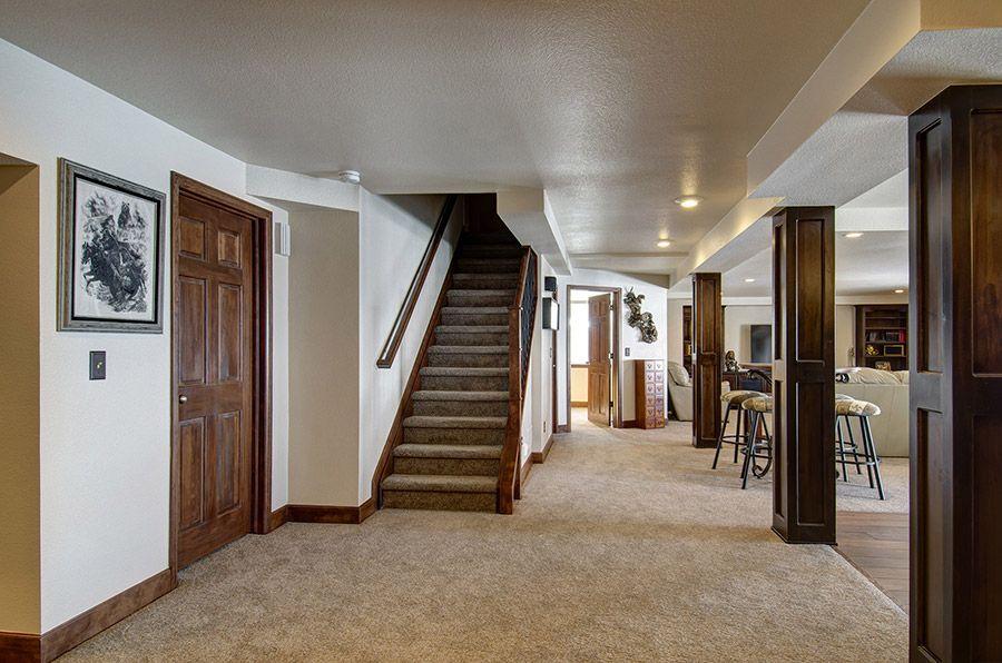 Wood Floors With Wood Trim Too Dark I Like The Carpet Treads But