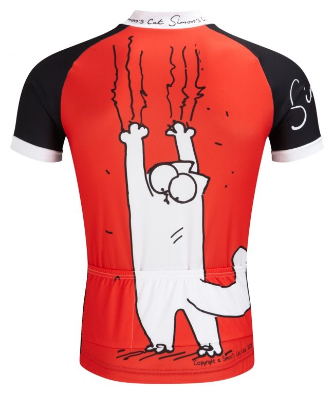 Simon s Cat  Hanging On  ADULTS Cycle Jersey  1ff50f470