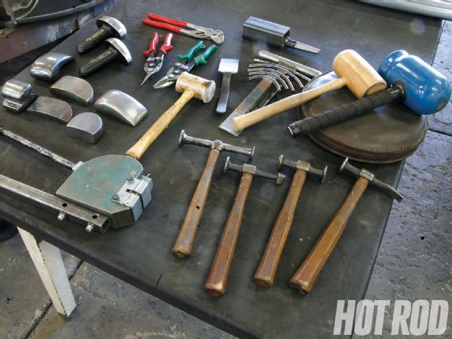 Basic Techniques To Metal Shaping From Home Hot Rod Magazine Sheet Metal Fabrication Metal Shaping Sheet Metal Tools