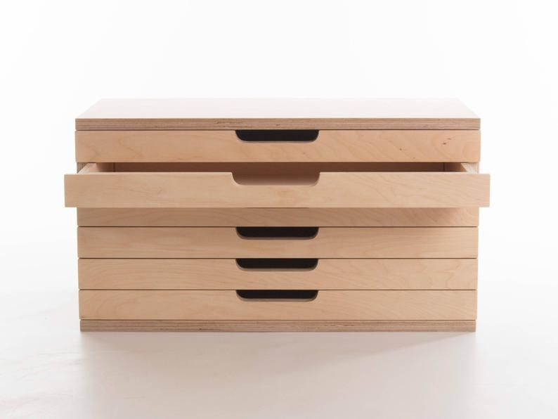 Art Box 6 Drawers Birch Plywood Craft Tool Painting Etsy In 2020 Craft Tool Storage Art Storage Box Art