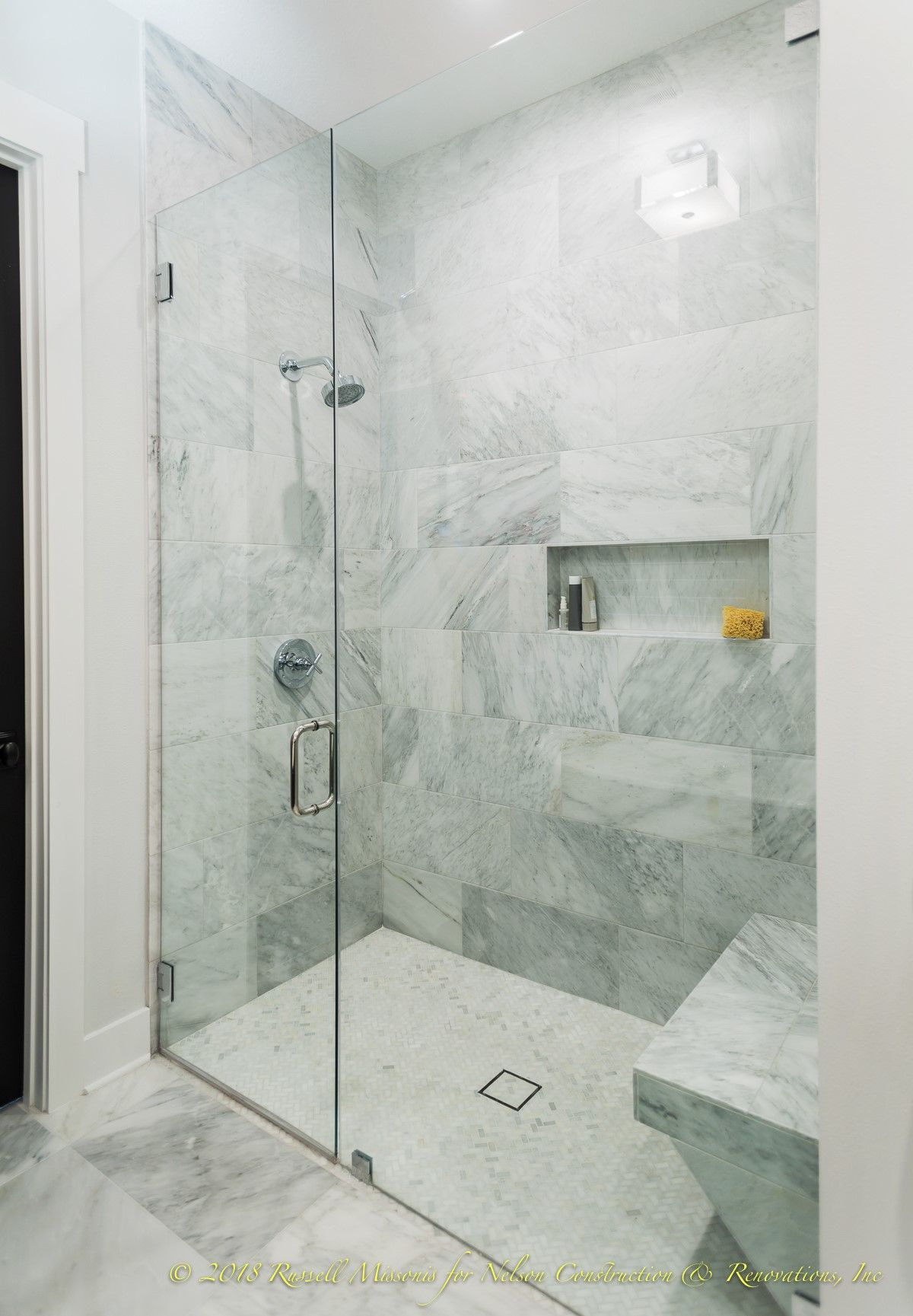 Beautiful Master Shower With Frameless Glass For This Master