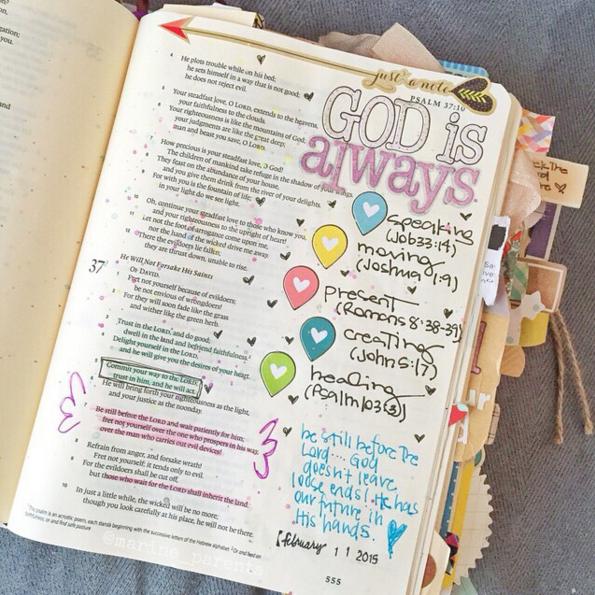 Tendência: Bible Journaling