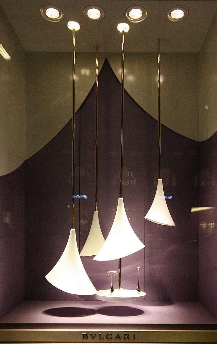Window display ideas for jewelry  bvlgari jewelry window display  ditems  pinterest  window