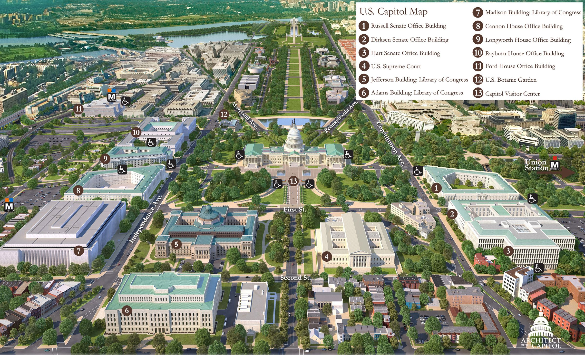 Capitol Hill Washington Dc Map Washington Dc Attractions Dc Attractions