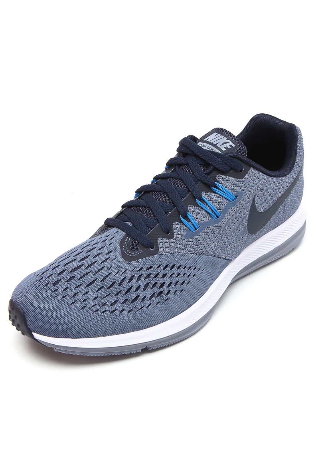 Tênis Nike Zoom Winflo 4 Azul   Tênis nike, Nike e Nike zoom