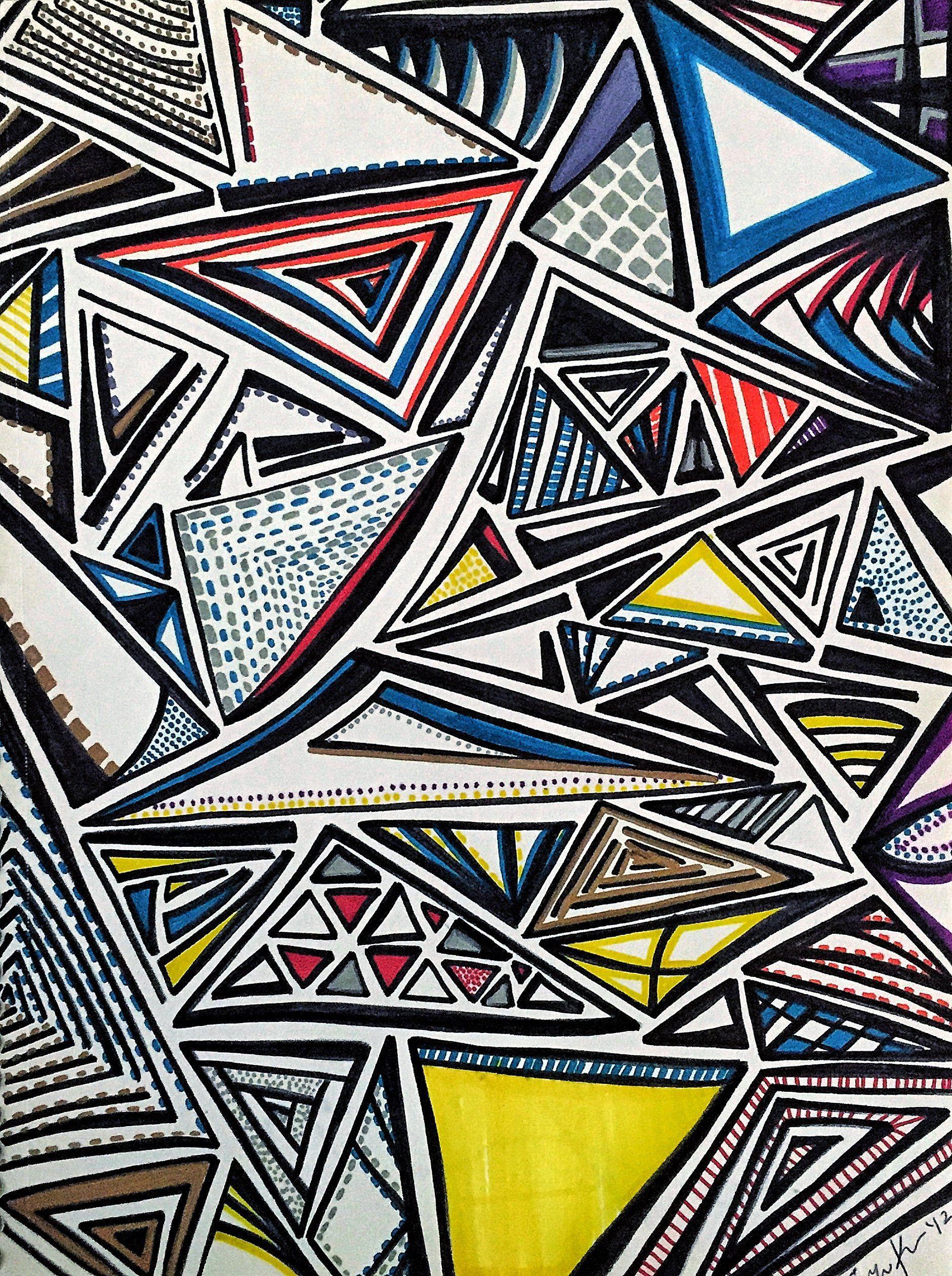 Marker Drawings Sharpie Art Abstract Art Artwork Drawing | Etsy