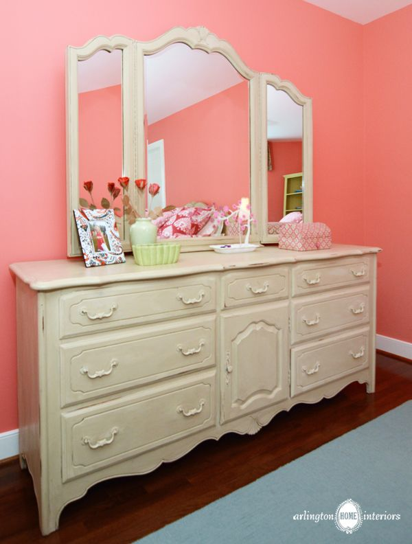 Merveilleux Interesting Girl Mirror Dressers With Seven Drawer