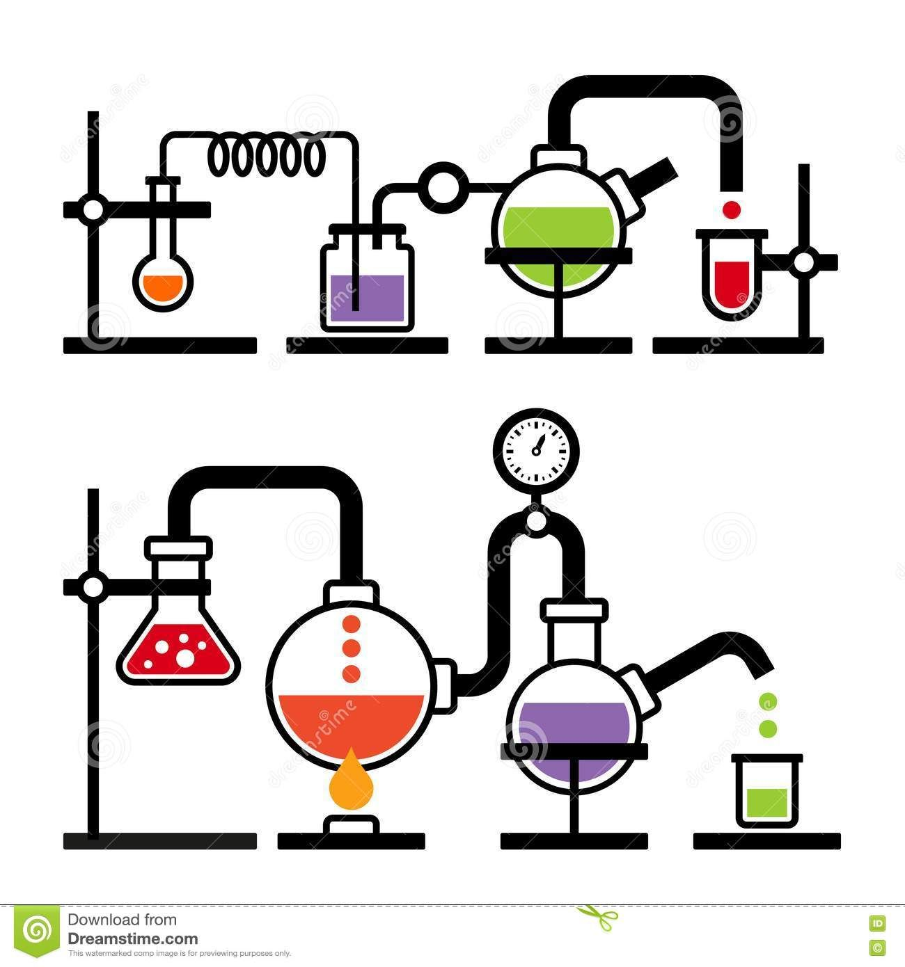 Chemistry Laboratory Infographic Stock Vector