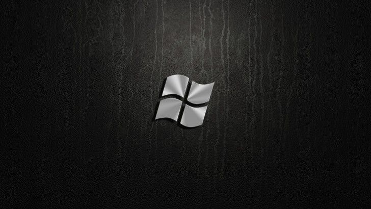 Download Microsoft Windows Steel Logo Wallpaper 4k Dark