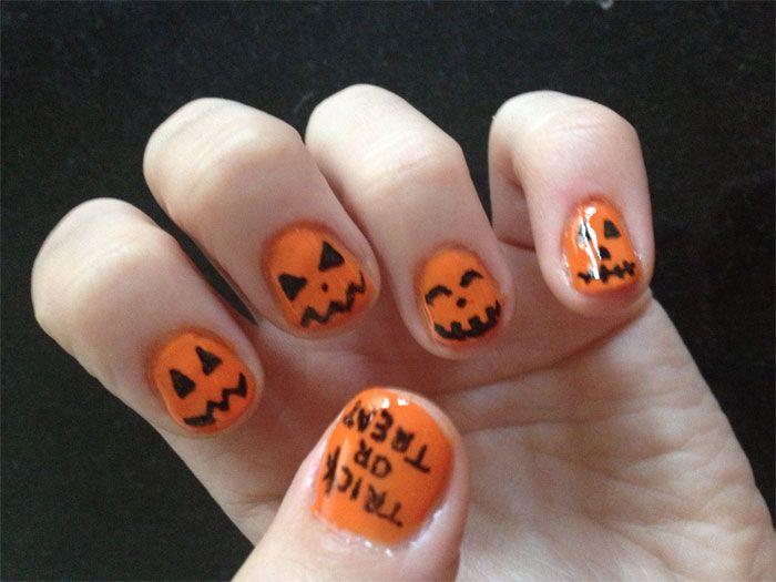 Halloween Pumpkin Nail Art - Halloween Pumpkin Nail Art Halloween Pumpkin Designs Pinterest