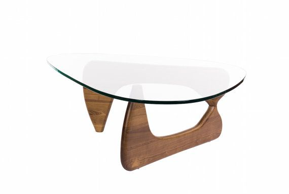 FREE SHIPPING Noguchi Inspired Table Walnut Mid Century Modern - Noguchi inspired coffee table