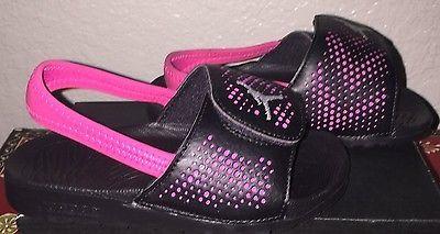 839d723559f1 Little Girls Jordan Hydro 5 Sandals Shoes Size 10 c NIB Black   Pink ...