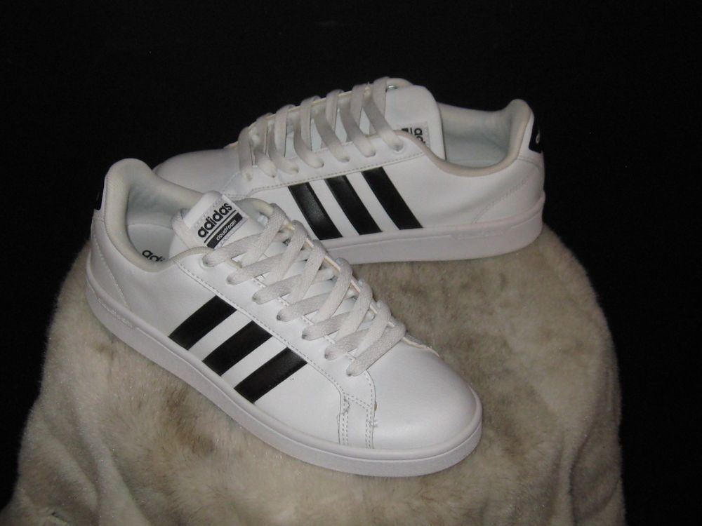 Women s Adidas NEO Baseline Sneakers Sz 8.5 White black AW4207 Cloud Foam  Memory  adidas  WalkingShoes 023c720a15