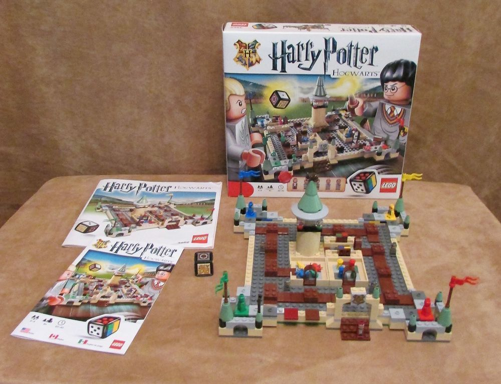 3862 Lego Complete Harry Potter Hogwarts Game Board Box Instructions
