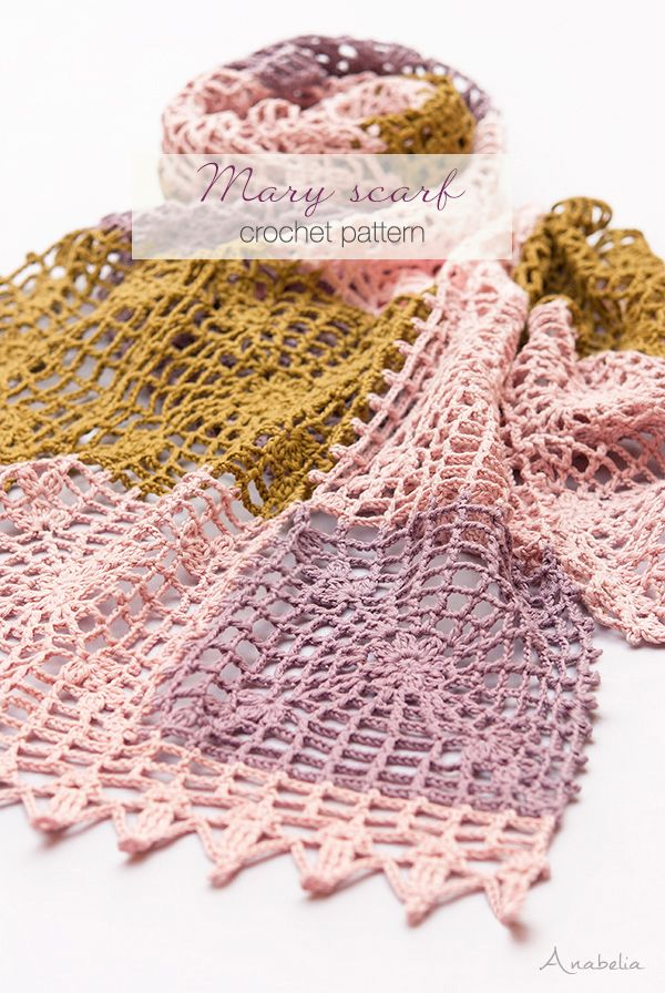New Crochet Light Scarf Easy And Quick To Make Anabelia Craft