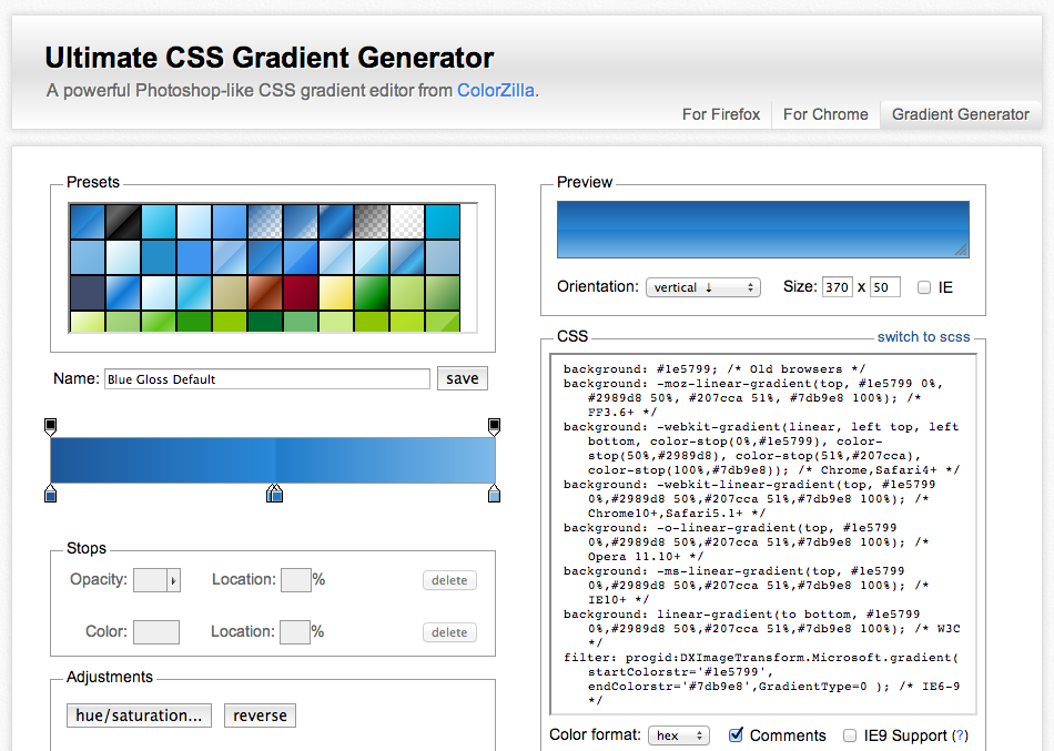 Ultimate CSS Gradient Generator A powerful