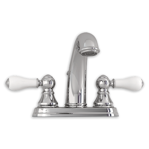 View Williamsburg 2 Handle 4 Inch Centerset High Arc Bathroom Faucet