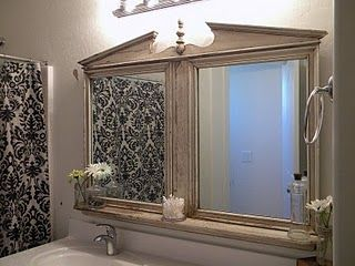 Grand Design Dresser Mirror Repurposed With