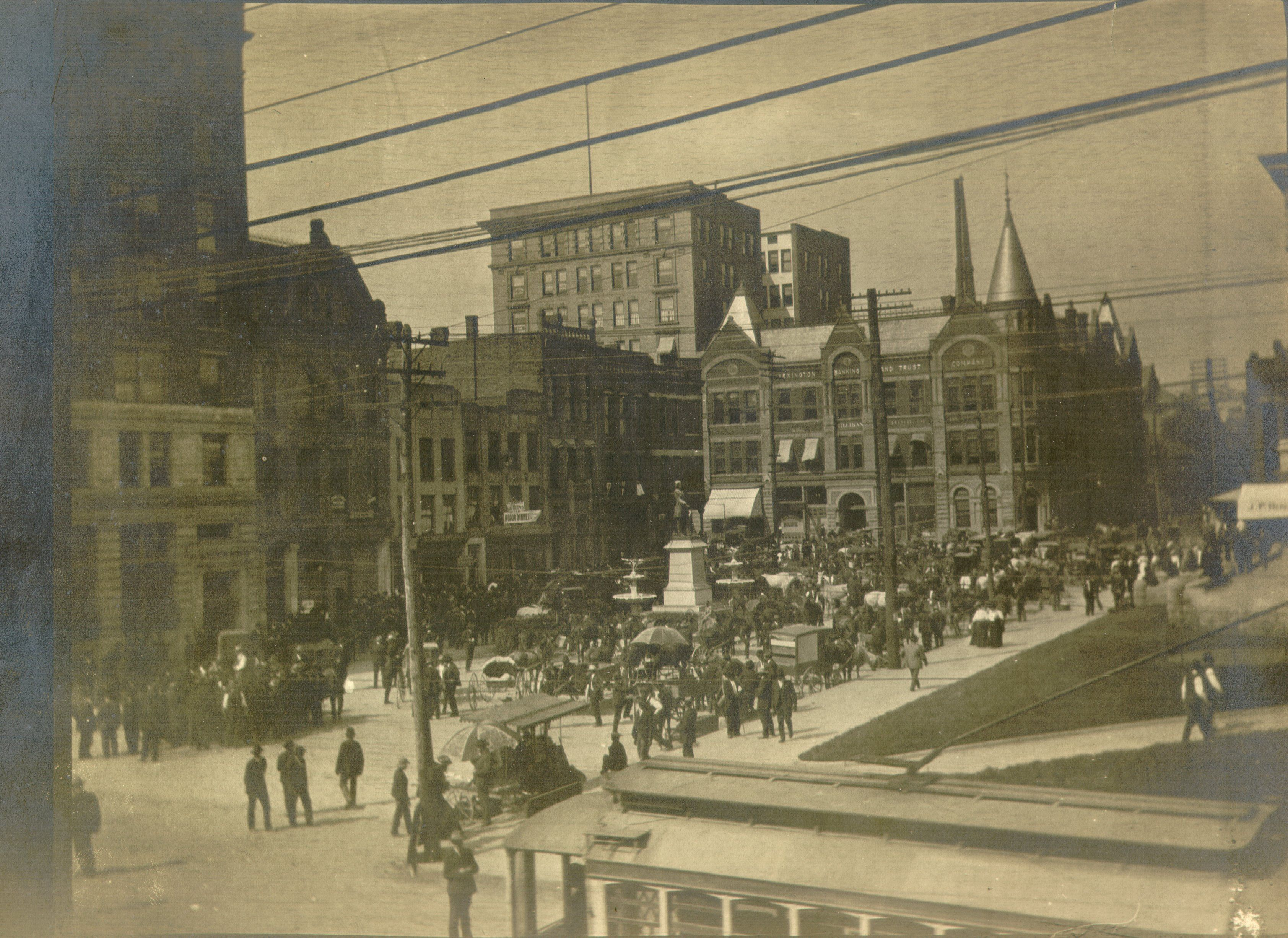 View of downtown Lexington (1890s?) | Scenes from Lexington