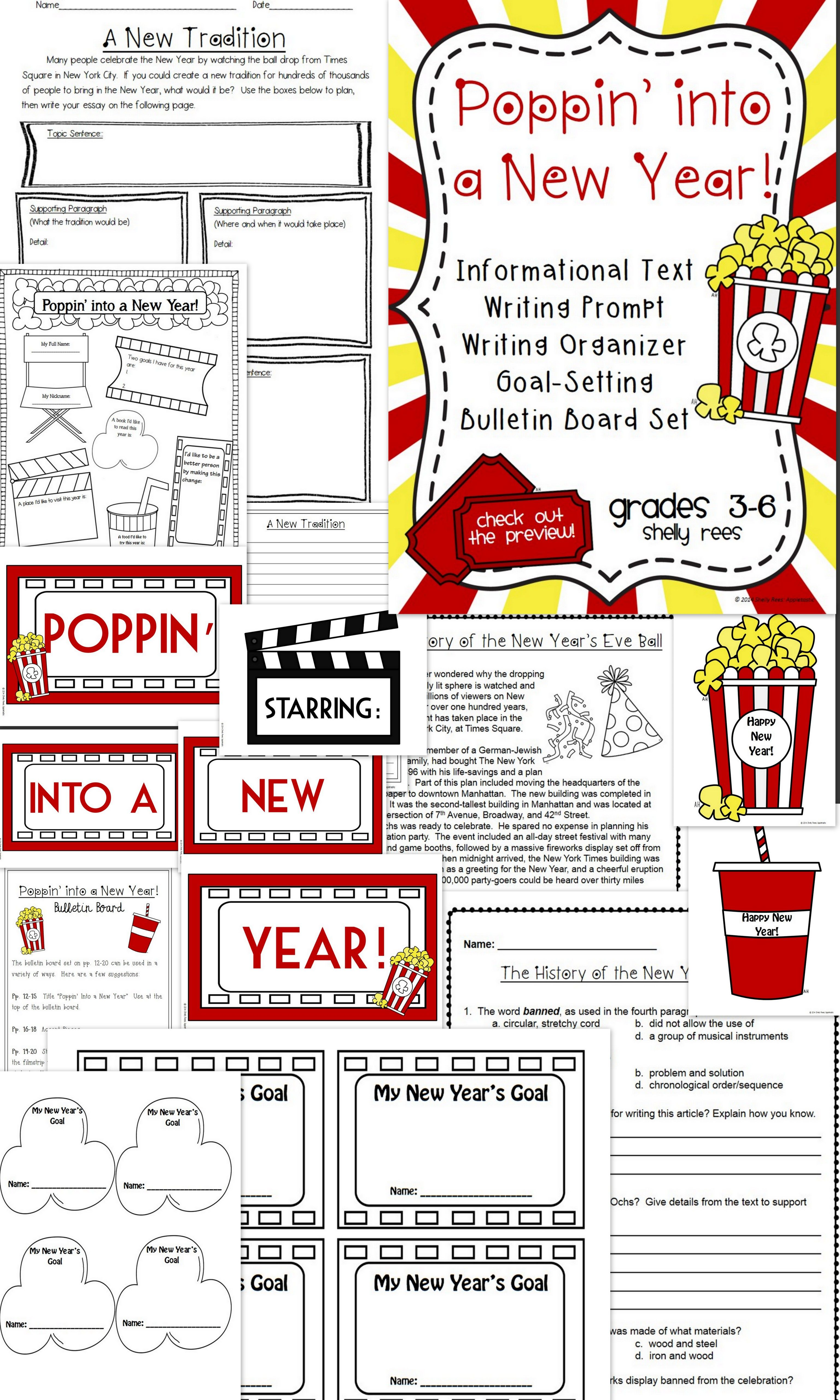 New Years Activities Reading Comprehension Passage