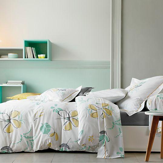 housse de couette lola blanc des vosges linge de lit adulte linge de maison nature moderne. Black Bedroom Furniture Sets. Home Design Ideas