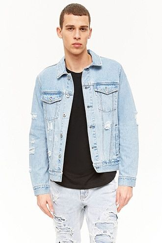 321696e45 Distressed Denim Jacket | Products | Denim jacket fashion, Denim ...