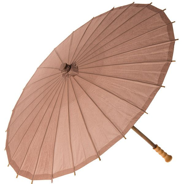 Paper Parasol (32-Inch, Latte Brown) - Chinese/Japanese Paper Umbrella... ($7.50) ❤ liked on Polyvore featuring accessories, umbrellas, umbrella, bamboo umbrella, cultural intrigue, wood handle umbrella, wooden handle umbrella and paper umbrellas