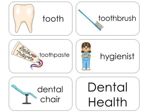 11 Laminated Dental Health Flashcards  Educational learning