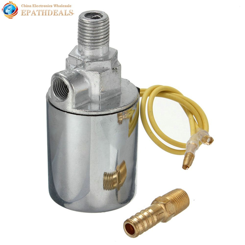 12V 24V 1//4 Train Truck Air Horn Electric Solenoid Valve Heavy Duty Chrome