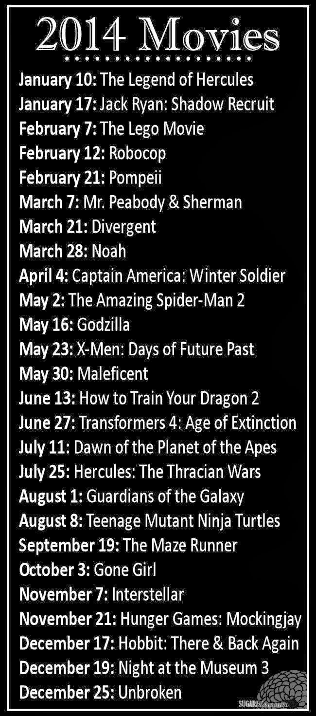 2014 Movie Releases Movie Releases Movies Good Movies