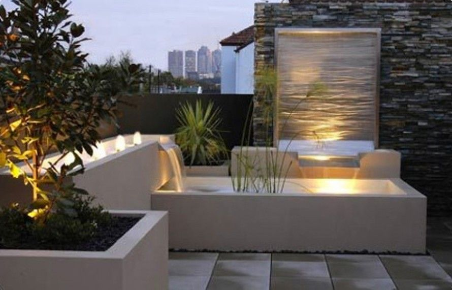 Modern Outdoor Wall Fountains Ideas