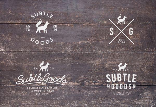 Subtle Goods Co. by Dimitrije Mikovic, via Behance