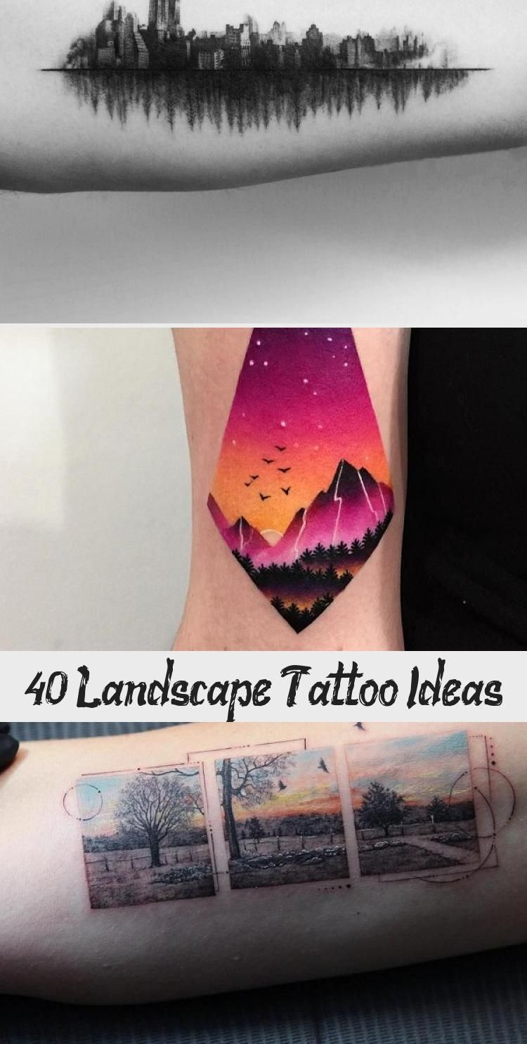 Photo of 40 idées de tatouage de paysage – tatouage
