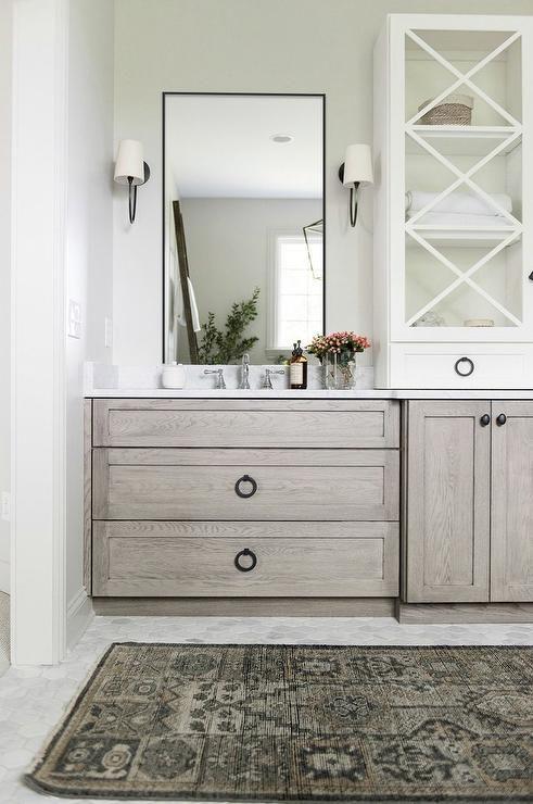 Oak Shaker Bath Vanity Cabinets