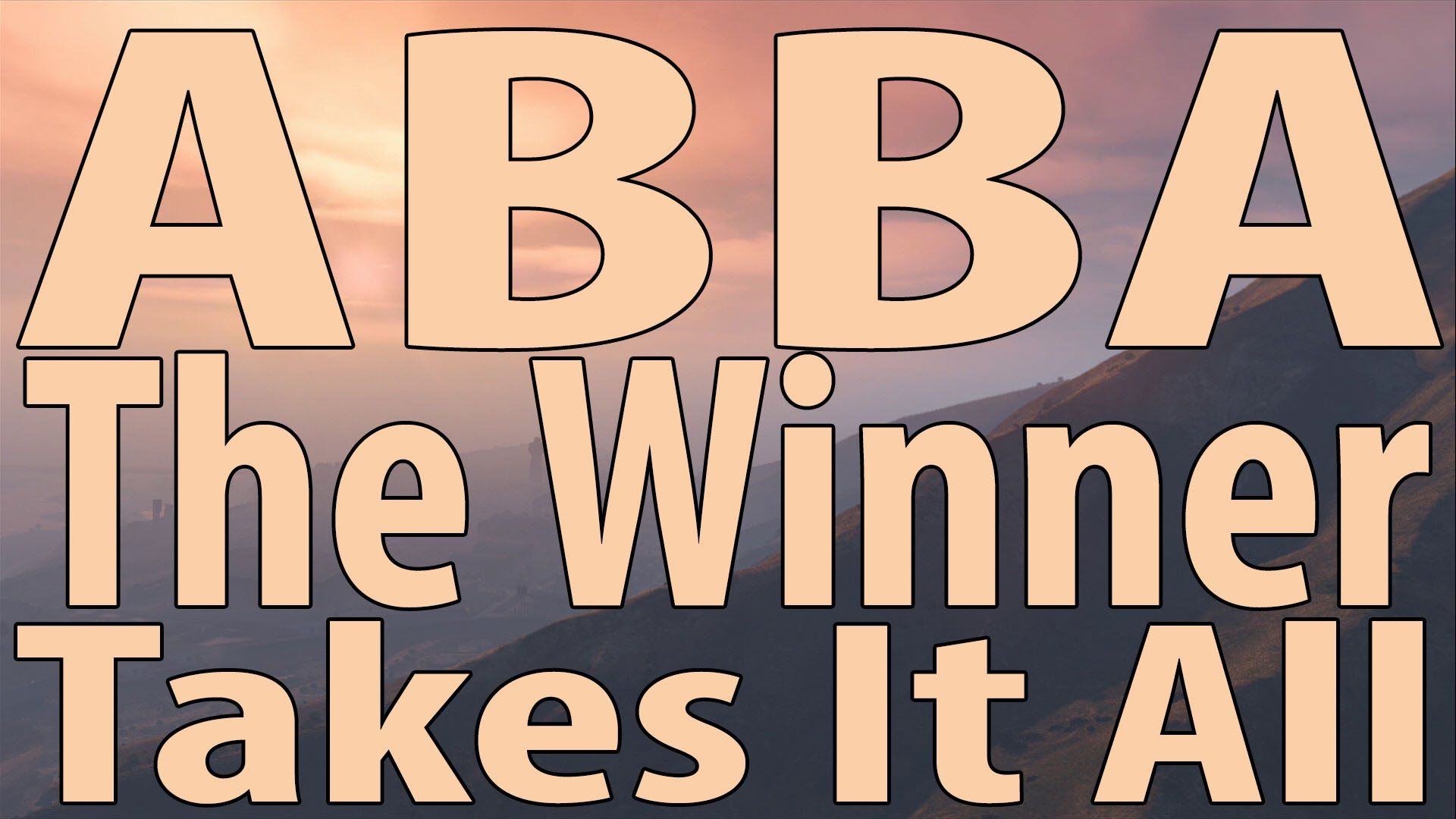 Abba The Winner Takes It All Instrumental Cover