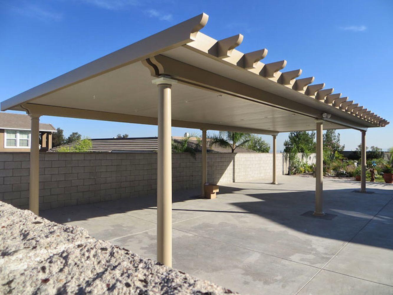 Alumawood Carport Pergola with roof, Pergola, Roof panels