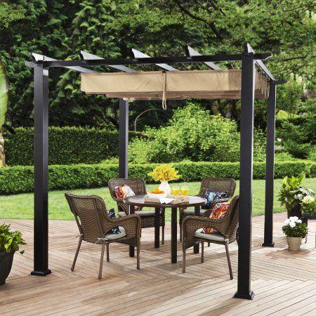 Patio Amp Garden Wood Deck Patio Steel Pergola Pergola