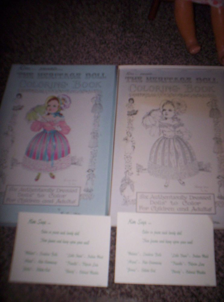 Red farm studio kim presents the heritage doll coloring book new in ...