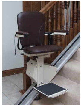 Elegant Stair Lift In Walnut By Jameson Electric Chair Lift Stairs