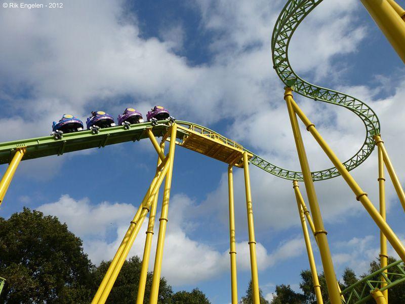 Dwervelwind Toverland Sevenum Limburg Netherlands Thrill Ride Roller Coaster Amusement Park